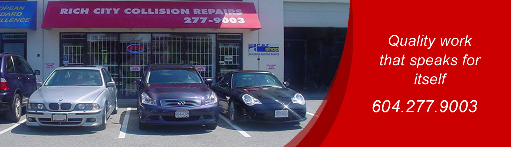 Collision repair facility in Vancouver, BC